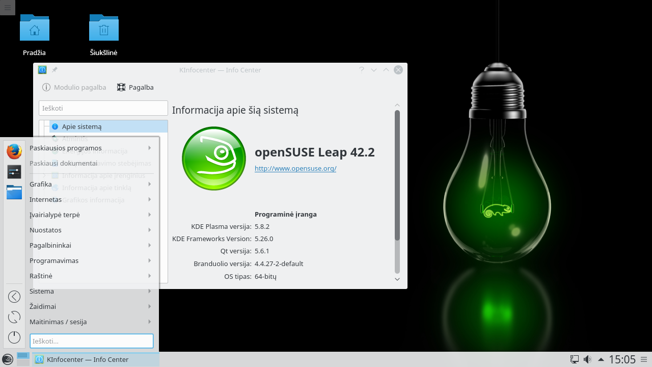 openSUSE Leap 42.2 su KDE Plasma 5.8 LTS